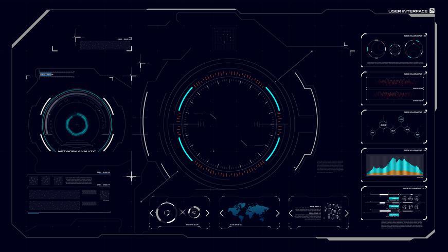 Interface graphique HUD 002 vecteur