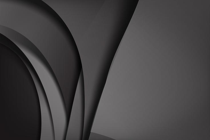 Abstrait fond noir et noir chevauche 008 vecteur