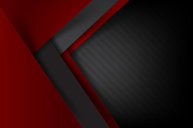 Abstrait fond rouge foncé et chevauchement noir 002 vecteur