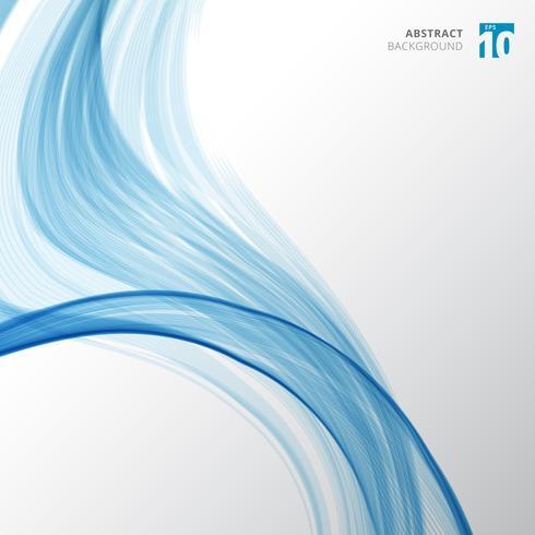 Fibre bleue lignes abstraites motif vague et texture incurvée sur fond de couleur blanche. vecteur