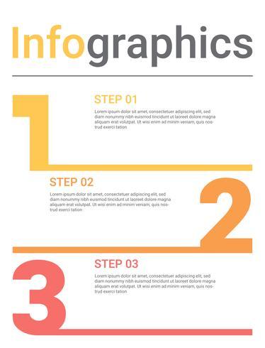 Diagramme d'infographie avec 3 étapes, options ou processus. Modèle d'affaires de vecteur pour la présentation. visualisation de données d'entreprise.