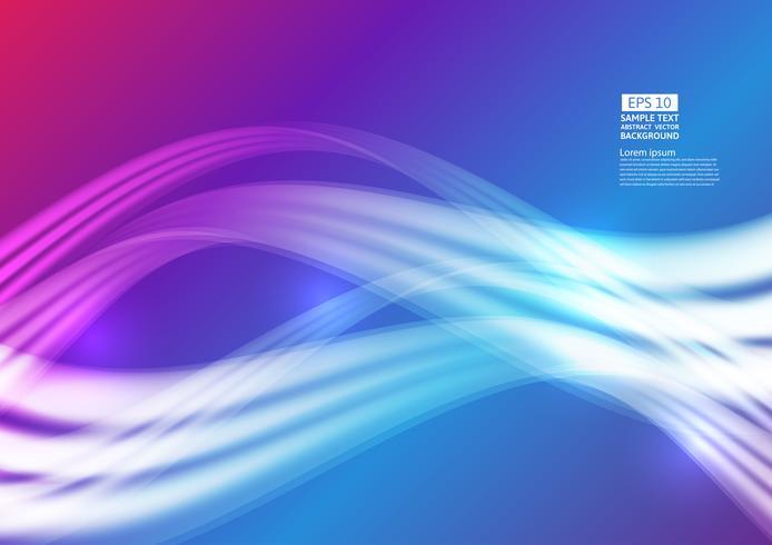 Design abstrait géométrique des vagues colorées. Design futuriste de composition de formes de dégradé fluide. illustration vectorielle vecteur