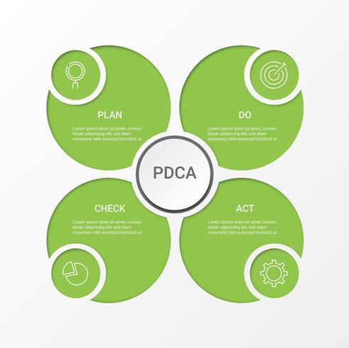 Infographie de l'entreprise. Diagramme avec 4 étapes, options ou processus. Modèle d'infographie pour la présentation. vecteur