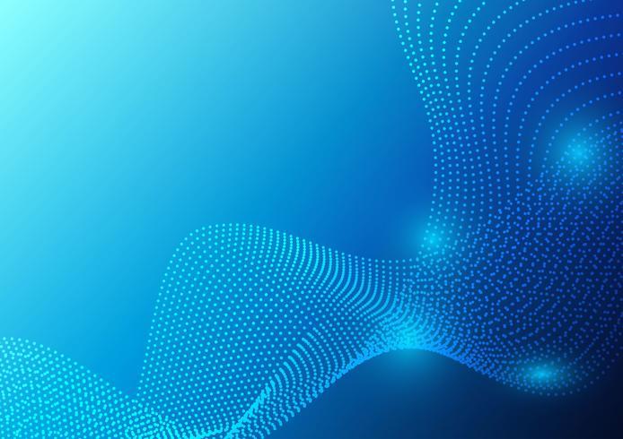 Particules de vagues de couleur bleue et design abstrait géométrique. illustration vectorielle vecteur