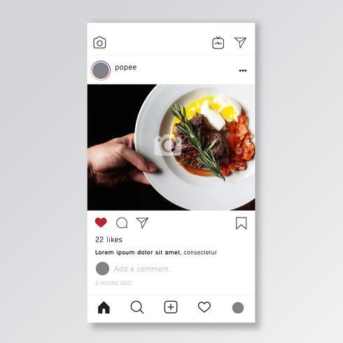 Maquette de modèle instagram vecteur