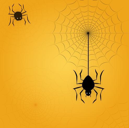 Image d'Halloween avec araignée et web vecteur