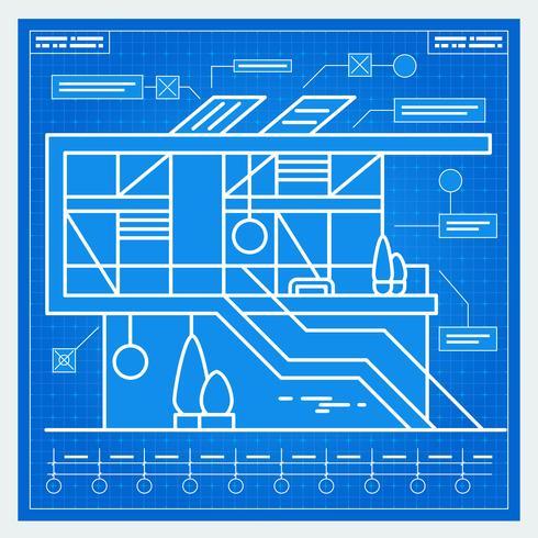 Plan de la maison vecteur