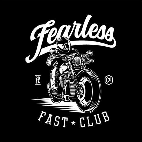 moto sans peur vecteur
