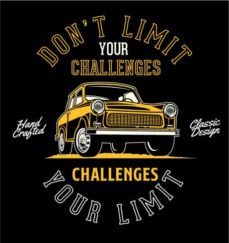 Ne limitez pas vos défis vecteur