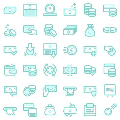 Affaires et finances ensemble d'icônes. vecteur
