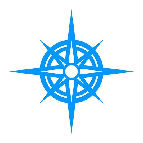 Compas de navigation vecteur