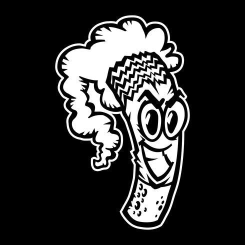 Illustration vectorielle de cigarette fumer vecteur