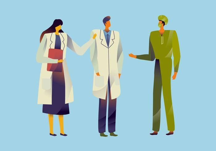 Illustration vectorielle de soins de santé caractère vecteur