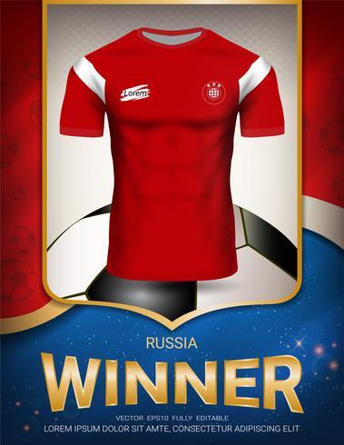 Coupe de football 2018, concept gagnant de Russie. vecteur