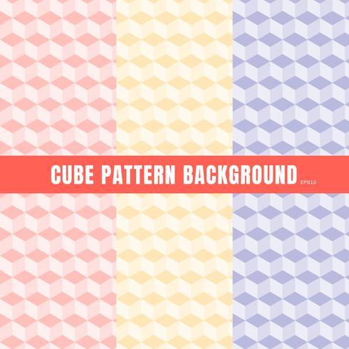 Ensemble de fond de couleur cube, motif rose, violet, jaune et la texture. vecteur