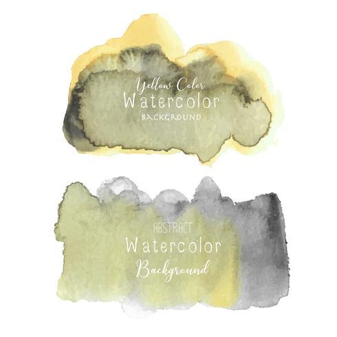 Aquarelle abstraite jaune, élément Aquarelle pour carte, illustration vectorielle. vecteur