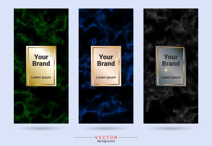 Modèles d'étiquettes et d'autocollants pour la conception de produits d'emballage. vecteur