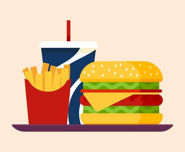 Illustration des aliments d'été vecteur