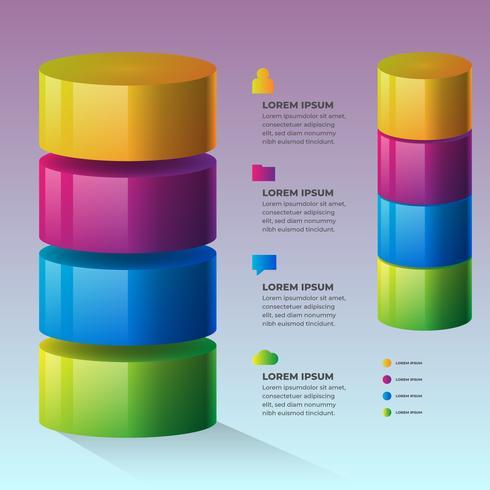 Élément d'infographie 3D Infochart Design Planning vecteur