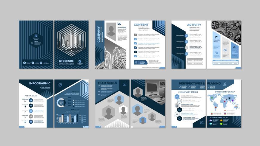 Brochure design créatif vecteur