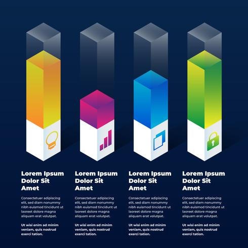 Éléments d'infographie 3D vecteur