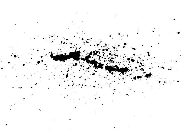 Aquarelle de splash d'encre abstraite noire, texture de spray aquarelle Splash isolé sur fond blanc. Illustration vectorielle vecteur