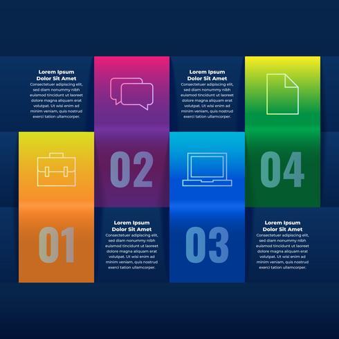 Modèle de conception infographie 3D Business Concept vecteur