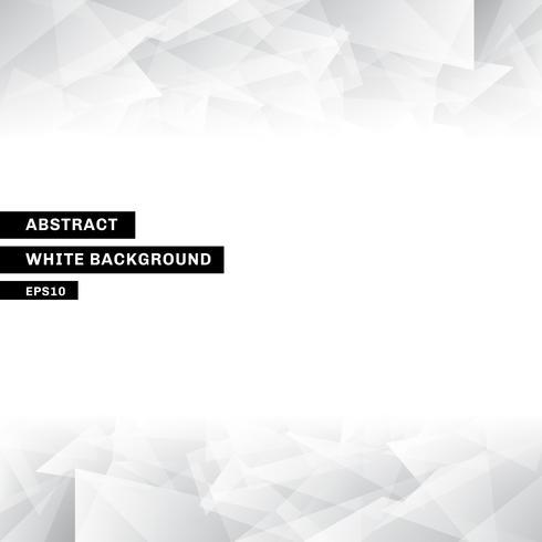 Modèle abstrait low poly tendance fond blanc avec espace de copie vecteur