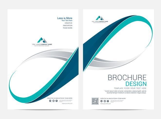 Modèle de mise en page de brochure, arrière-plan de conception de la couverture vecteur
