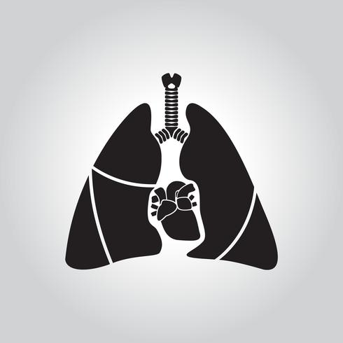 Symbole de coeur et de poumon vecteur