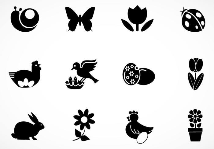 Pack d'icônes vectorielles de Pâques vecteur