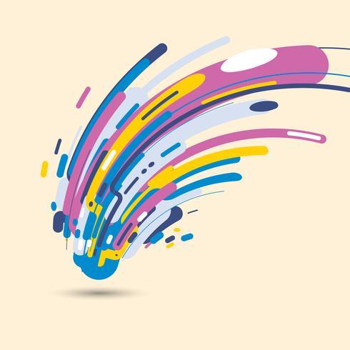 Style moderne abstrait avec une composition composée de diverses formes arrondies aux formes colorées vecteur