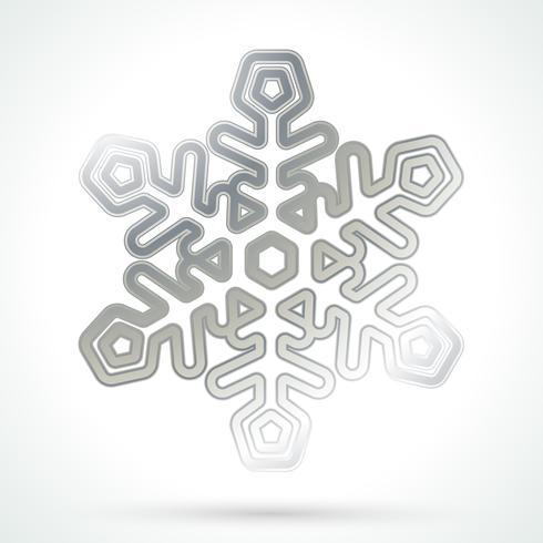 Flocon de neige argenté vecteur