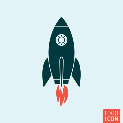 Modèle d'icône de fusée vecteur