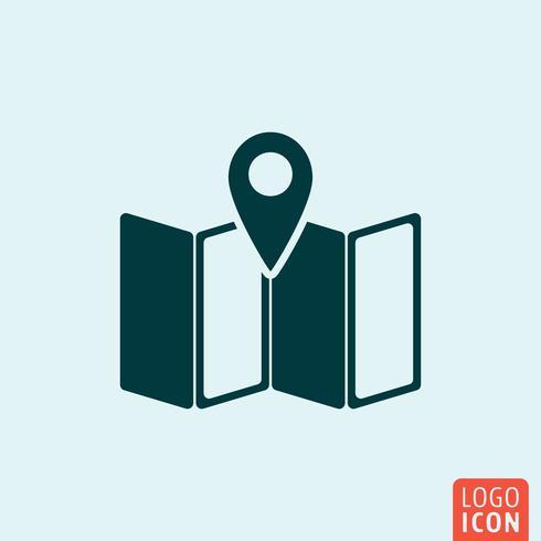 Icône de localisation de carte vecteur