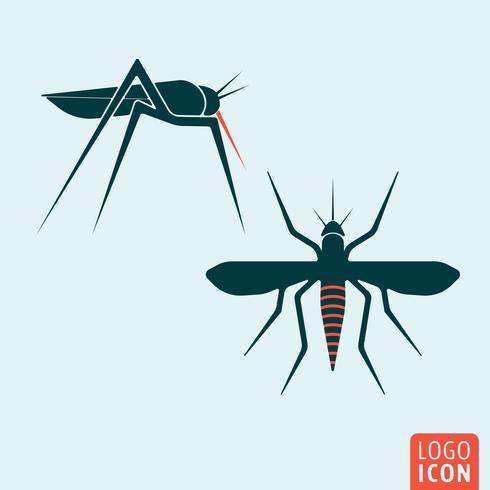 Icône de moustique isolé vecteur