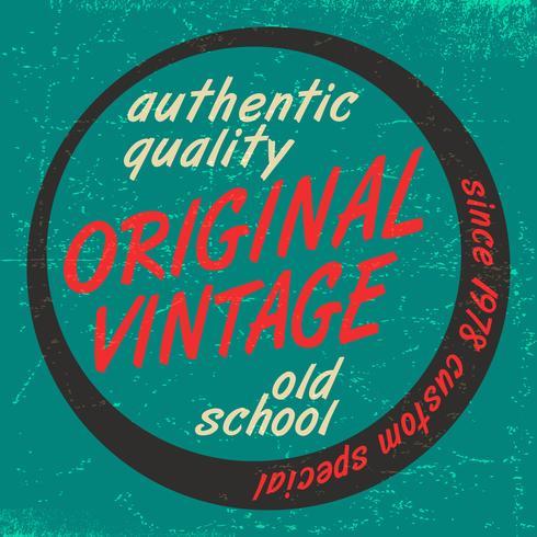Impression vintage originale vecteur