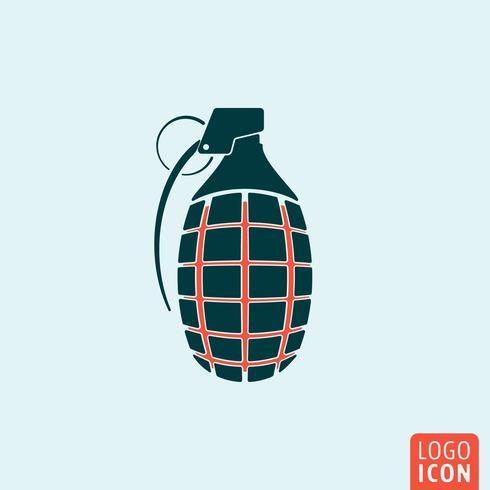 Grenade icône isolé vecteur