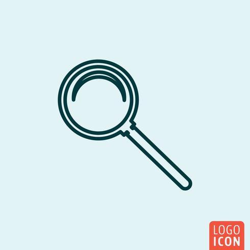 Conception de ligne d'icône vecteur