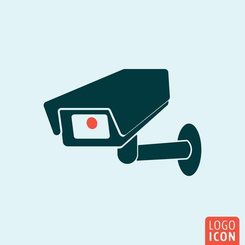 Icône de vidéosurveillance isolée vecteur