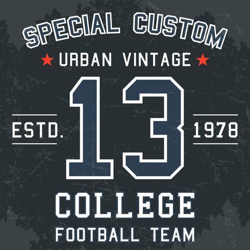 Affiche de football vintage vecteur