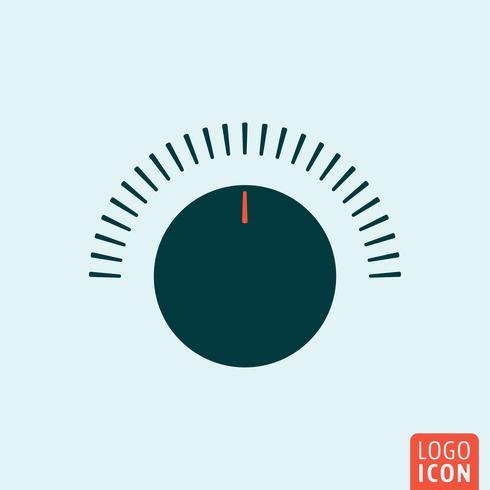 Icône du bouton de volume vecteur