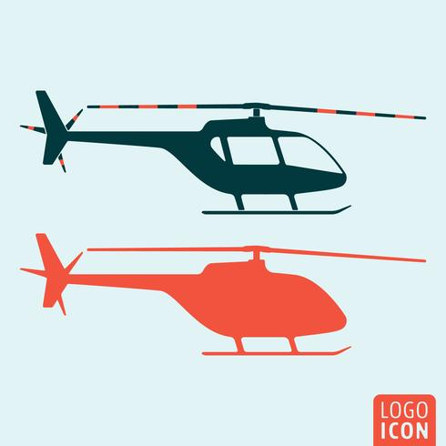 Icône d'hélicoptère isolé vecteur