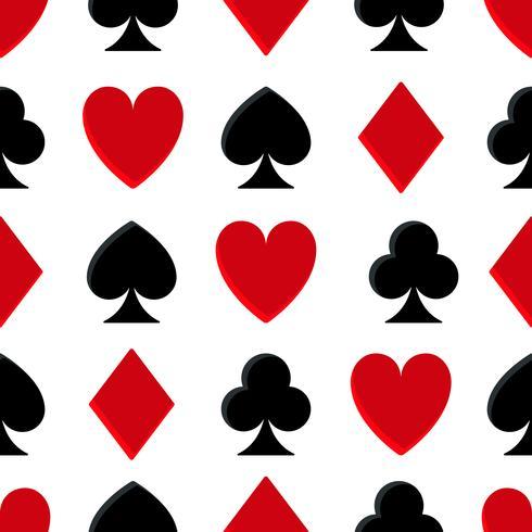 Modèle sans couture de poker casino vecteur