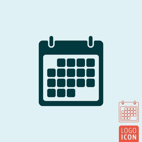 Icône de calendrier isolé vecteur