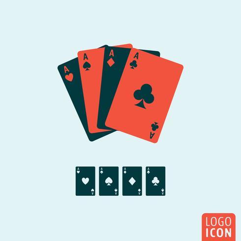 Icône de cartes à jouer isolé vecteur