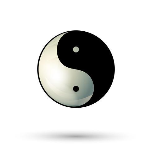 Icône de symbole Yinyang vecteur