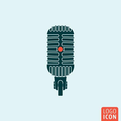 Icône de microphone isolé vecteur