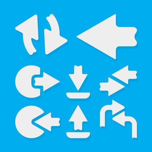Modèle d'icône de flèches vecteur