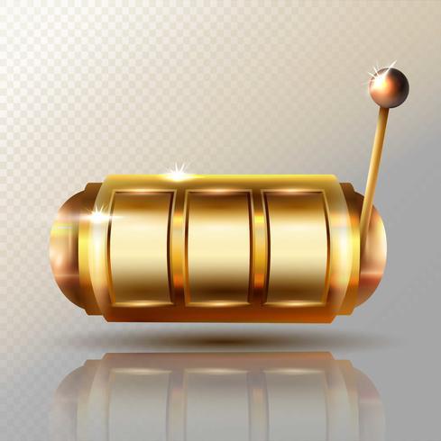Vecteur de machine à sous. Golden Lucky Vide Slot.